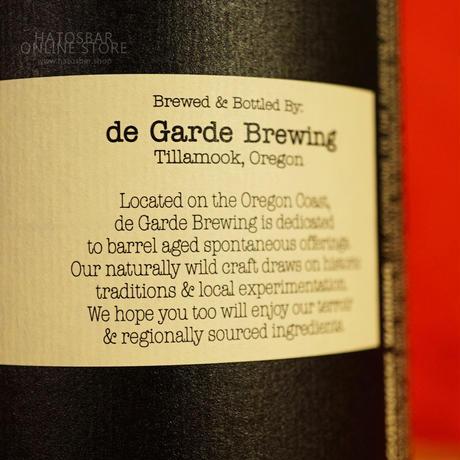 """BOTTLE#123 『The Bluest』 """"ザ ブルースト"""" Spontaneous wild ale/7%/750ml by de Garde Brewing."""