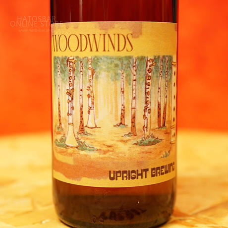 """BOTTLE#169『WOODWINDS』""""ウッドウインド""""  /7.5%/375ml by UPRIGHT Brewing."""