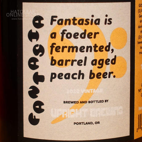 "BOTTLE#147『Fantasia』""ファンタジア"" American Wild Ale/6.0%/375ml by UPRIGHT Brewing."