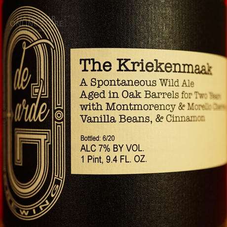 "BOTTLE#120 『The Kriekenmaak』 ""ザ クリークマーク"" Spontaneous wild ale/7%/750ml by de Garde Brewing."