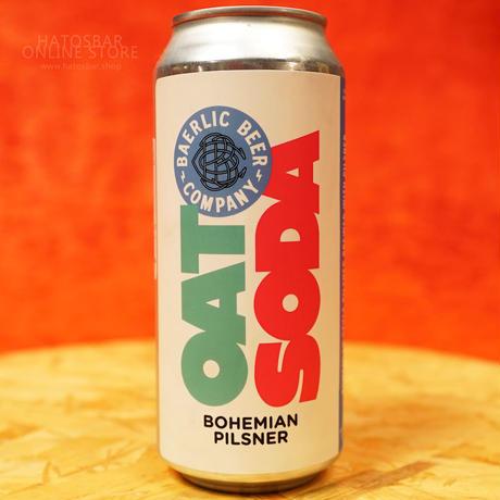 """CAN#159 『OAT SODA』 """"オーツソーダ"""" Bohemian Pilsner/4.2%/473ml by BAERLIC Brewing."""