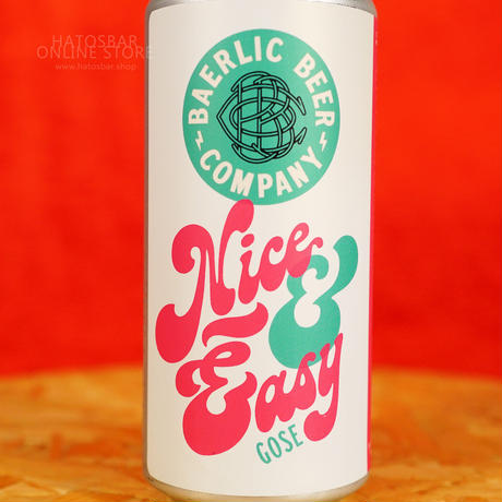 "CAN#172『Nice & Easy』 ""ナイス&イージー"" GOSE/5.2%/473ml by BAERLIC Brewing."