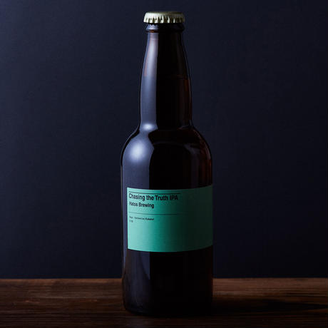 """BOTTLE#135『Chasing the Truth IPA』 """"チェイシングザトゥルース"""" IPA/6.5%/330ml by HATOS Brewing."""