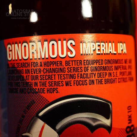 """BOTTLE#116『GINORMOUS MK10』 """"ジャイノーマス マーク10"""" Imperial IPA/8%/500ml by GIGANTIC Brewing."""
