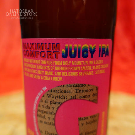 "BOTTLE#51 『MAXIMUM COMFORT』""マキシマムコンフォート"" JUICY IPA. alc. 7.5%/500ml by GIGANTIC Brewing."