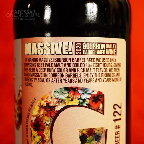 "BOTTLE#117『Massive!2020』 ""マッシヴ2020"" Bourbon Barrel Aged Barley Wine/14%/500ml by GIGANTIC Brewing."