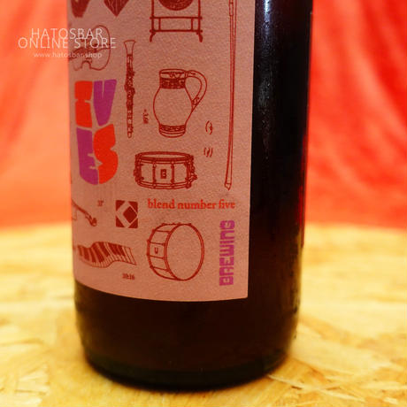 "BOTTLE#74『IVES blend five』""アイヴス ブレンド5"" American Barrel-Aged Sour /7.0%/375ml by UPRIGHT Brewing."