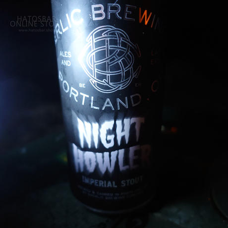 "CAN#80 『NIGHT HOWLER』 ""ナイトハウラー"" IMPERIAL STOUT/10%/473ml by BAERLIC Brewing."
