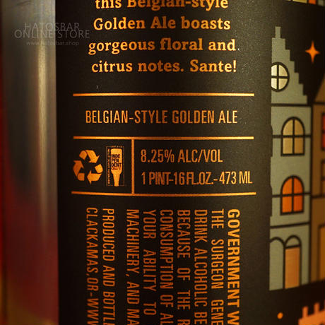 """CAN#132『Flemish Gold』""""フレーミッシュゴールド""""  Belgian-style Golden Ale /8.25%/473ml by LITTLE BEAST Brewing."""