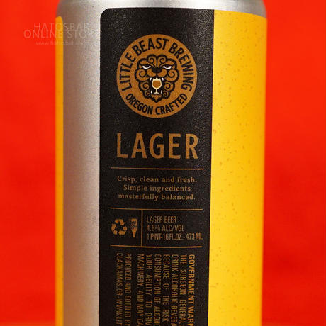 """CAN#175『LAGER』""""ラガー Lager /4.8%/473ml by LITTLE BEAST Brewing."""