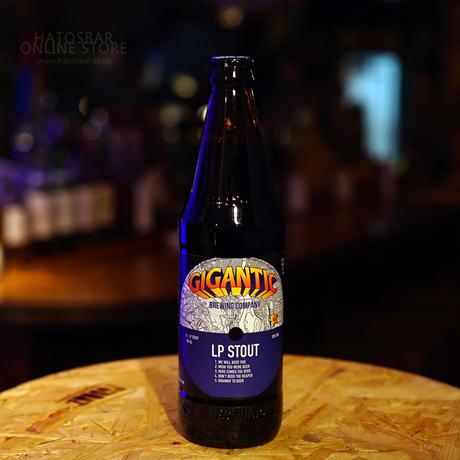 """BOTTLE#87『LP STOUT』 """"LPスタウト"""" STOUT/5.7%/500ml by GIGANTIC Brewing."""