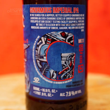 """BOTTLE#153『GINORMOUS MK11』 """"ジャイノーマス マーク11"""" Imperial IPA/7.9%/500ml by GIGANTIC Brewing."""