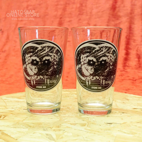 Original PINT GLASS x2個Set art work by ragelow (hatos / daily workers)