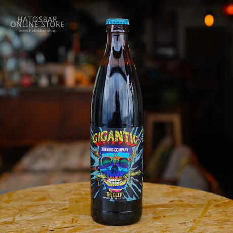 """BOTTLE#152『THE DEEP』 """"ザ ディープ"""" Imperial Oatmeal Stout/7.8%/500ml by GIGANTIC Brewing."""