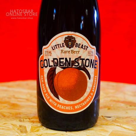 """BOTTLE#45『GOLDEN STONE』""""ゴールデン ストーン"""" Oak-Aged Ale/8.1%/375ml by LITTLE BEAST Brewing"""