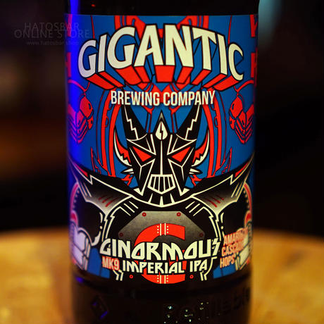 "BOTTLE#91『GINORMOUS MK9』 ""ジャイノーマス マーク9"" IMPERIAL IPA/8%/500ml by GIGANTIC Brewing."