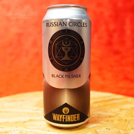 "CAN#157『RUSSIAN CIRCLES』""ロシアンサークルズ"" BLACK PILSNER/5.1%/473ml by WAYFINDER Beer."