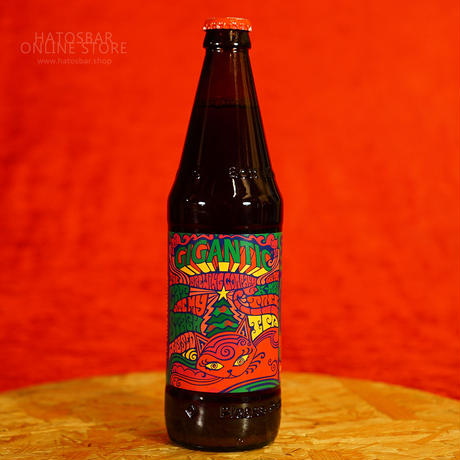 """BOTTLE#136『The Cat Ate My Stash』 """"キャットエイトマイスタッシュ"""" IPA/7.5%/500ml by GIGANTIC Brewing."""