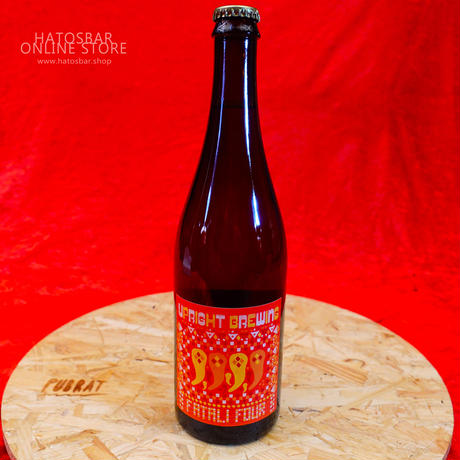 "BOTTLE#14『FATALI FOUR』 ""ファタリフォア"" Saison/4.75%/750ml by UPRIGHT Brewing."