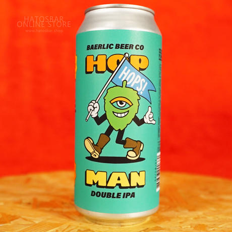 """CAN#171『HOP MAN Teal』 """"ホップマン ティール"""" Double IPA/8%/473ml by BAERLIC Brewing."""