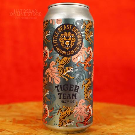 "CAN#176『TIGER TEAM』""タイガーティーム""  HAZY IPA /6.5%/473ml by LITTLE BEAST Brewing."