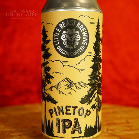 """CAN#133『Pinetop IPA』""""パイントップ"""" IPA /6.4%/473ml by LITTLE BEAST Brewing."""