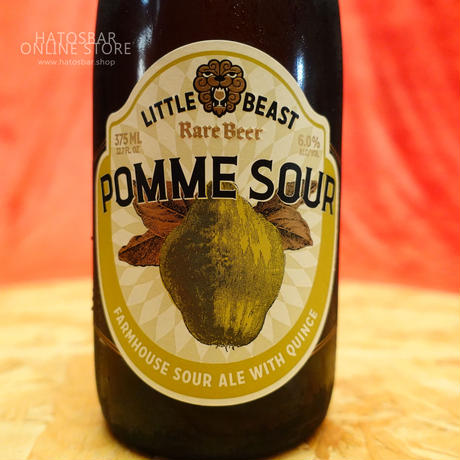 "BOTTLE#71『POMME SOUR』""ポムサワー""  Farmhouse sour ale/6.0%/375ml by LITTLE BEAST Brewing."