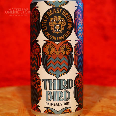 "CAN#141『THIRD BIRD』""サード バード"" Oatmeal Stout /6%/473ml by LITTLE BEAST Brewing."