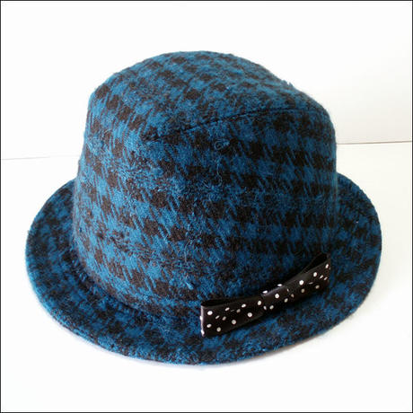 blueblack*check-hat