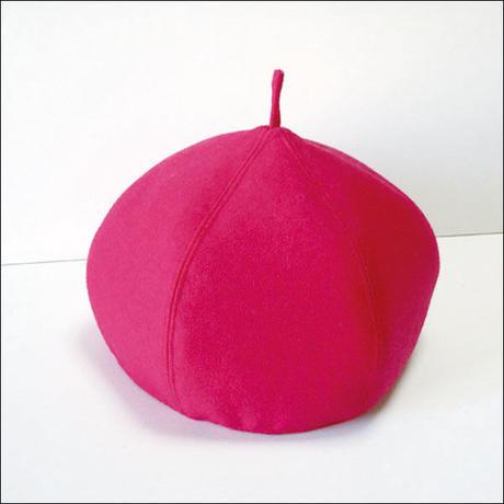 pink*wool*Choco-beret