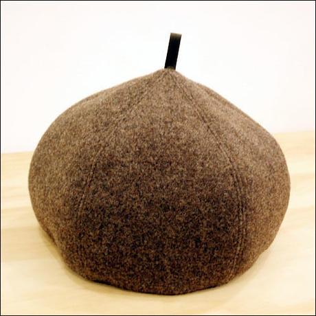 brown*wool*Choco-beret