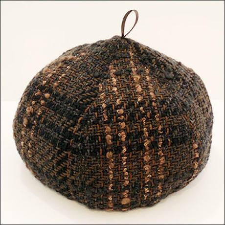 tweed*check*Choco-beret