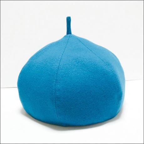 blue*wool*Choco-beret