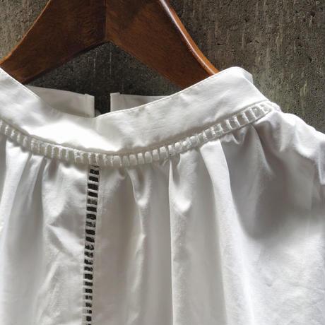 DECO depuis 1985 (デコ デュピュイ1985) レースカッティングドレスシャツ(white)