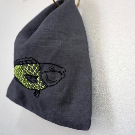 Manami.K リネン刺繍ミニバッグ
