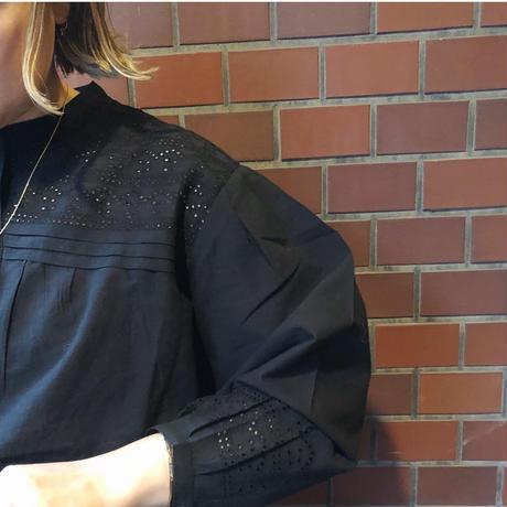 soeur スール  LUCIOLE  ブラック刺繍ブラウス