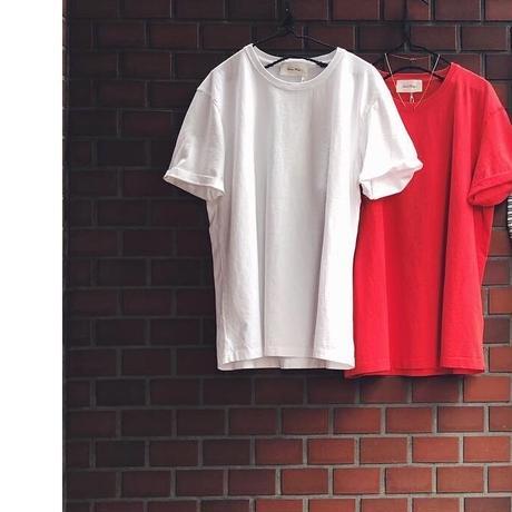 American Vintage アメリカンヴィンテージ EXIA16 袖折り返し半袖Tシャツ