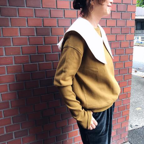 EMILE ET IDA エミールエイダ   オーガニックコットンデザインスウェット プルオーバー(2color)