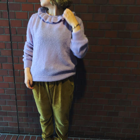 EMILE ET IDA エミールエイダ   フリルアルパカプルオーバーニット(2color)