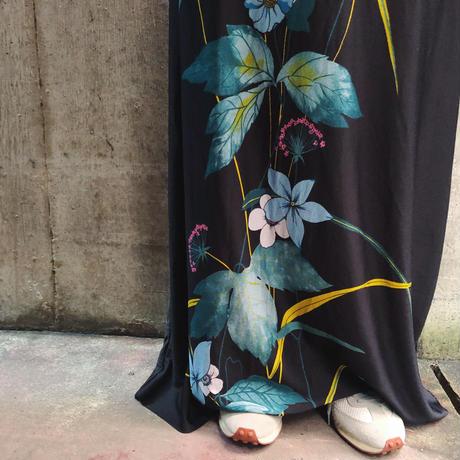 USED フラワープリントマキシスカート