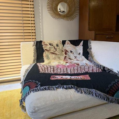 Nathalie Lete ナタリーレテ タペストリーラグ(Two kitties)