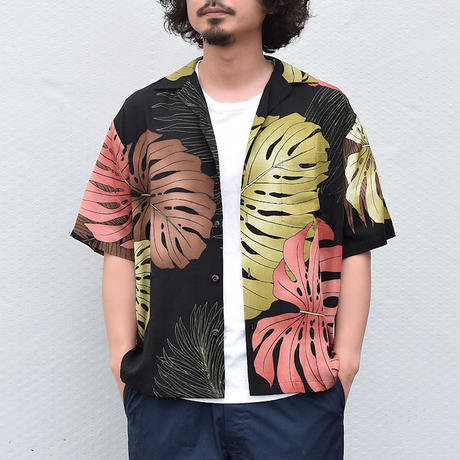 "【1color】 <Hilo Hattie / ヒロハッティ> アロハシャツ ""Monstera Palm Fronds"""