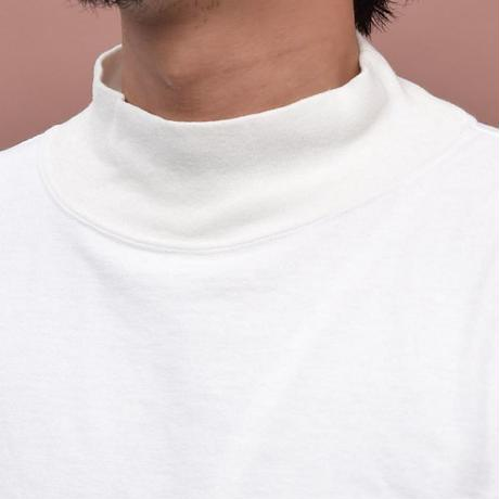 ※残りLのみ【BARNS】吊り編み サーモライト ハイネック 長袖
