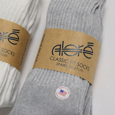 <Alore> 3-Pairs  Crew Socks