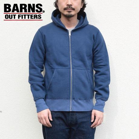【小寸編み】<BARNS/COZUN/コズン> ビンテージライク ジップパーカー  Made by Union Special