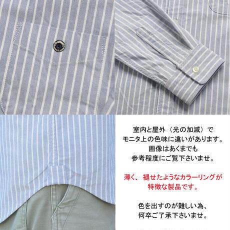 ピンストライプ オックスフォード ボタンダウンシャツ <BARNS×ShuttleNotes>