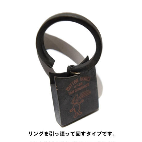 <BUTTON WORKS> Vintage Key Ring 【メール便送料無料】