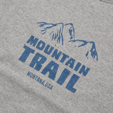 <BARNS> ヘビーウェイト プリントT 「MOUNTAIN TRAIL」