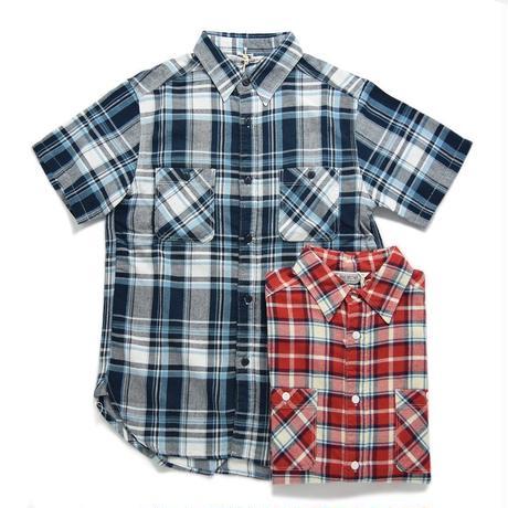 ※残りNAVY/Lサイズのみ <FIVE BROTHER> 半袖ライトネルシャツ