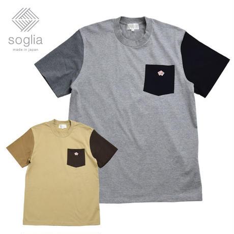 【メール便送料無料】 <Soglia/ソリア> Stud Pocket Tee